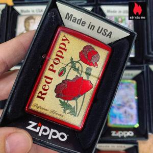 Zippo 21063 Poppy Design 1
