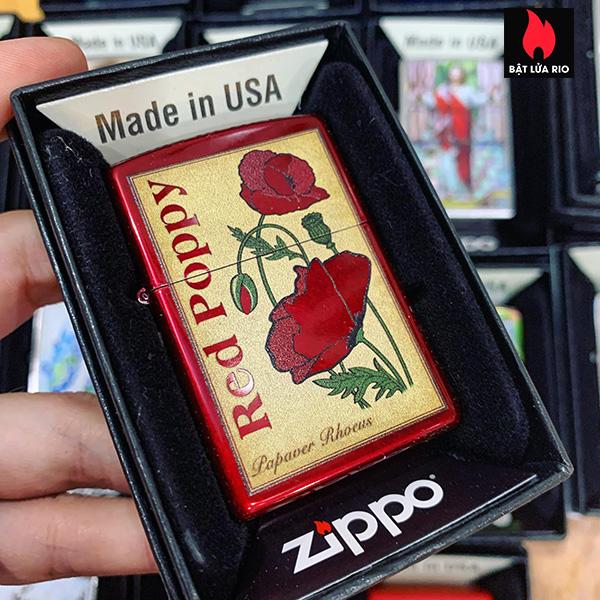 Zippo 21063 Poppy Design 2