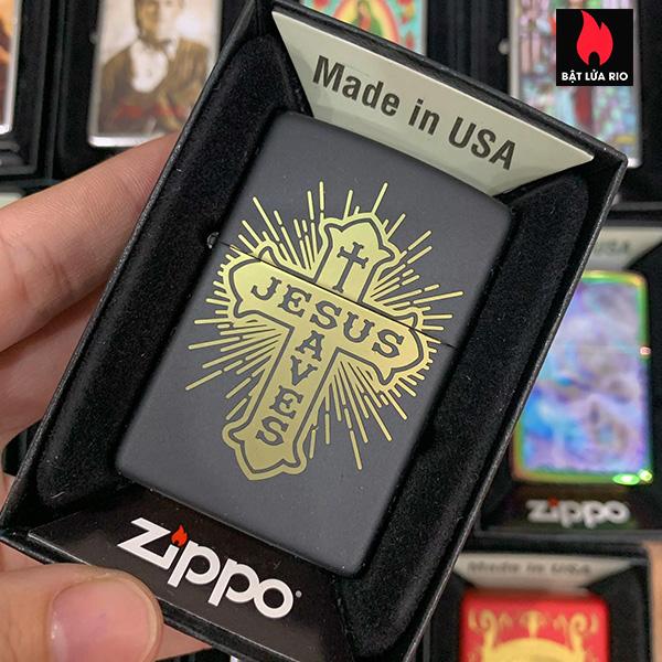 Zippo 218 Cross Design