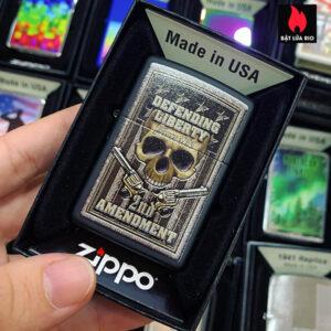 Zippo 218 Second Amendment Design