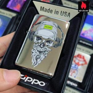 Zippo 250 Hipster Skull