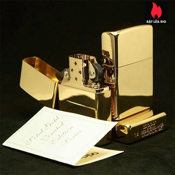 Zippo 195 - Zippo 18 Kt. Solid Gold 10