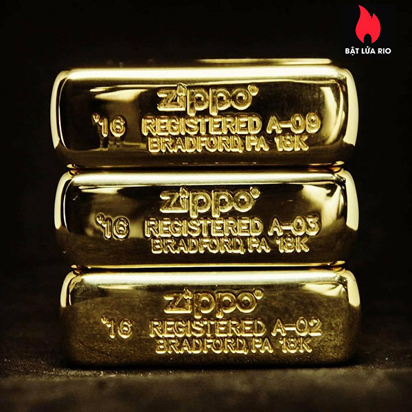 Zippo 195 - Zippo 18 Kt. Solid Gold 13