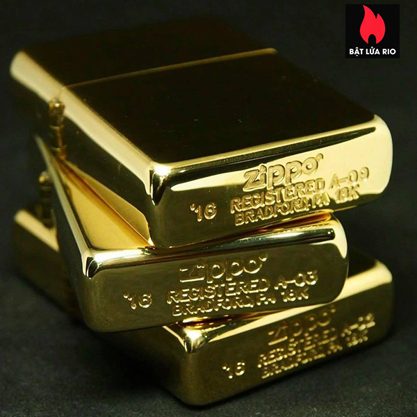 Zippo 195 - Zippo 18 Kt. Solid Gold 14