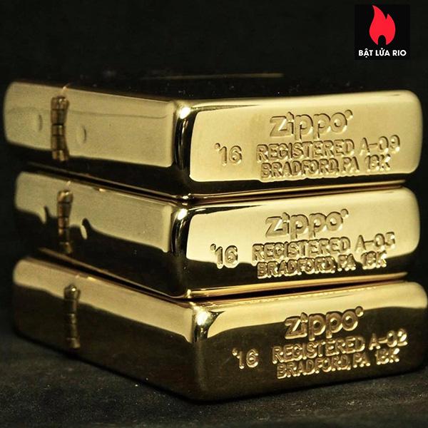 Zippo 195 - Zippo 18 Kt. Solid Gold 15