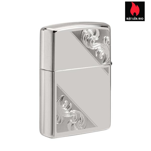 Zippo 49479 - Zippo Sterling Silver Diagonal Filigree Design 2