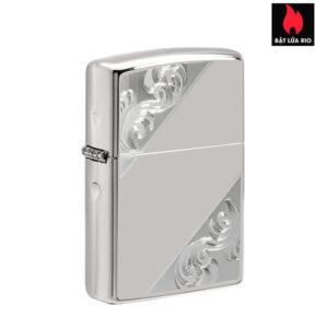 Zippo 49479 - Zippo Sterling Silver Diagonal Filigree Design
