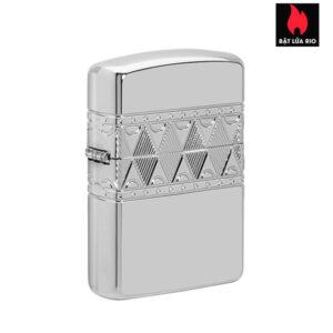 Zippo 49550 - Zippo Armor® Sterling Silver Diamond Pattern Design