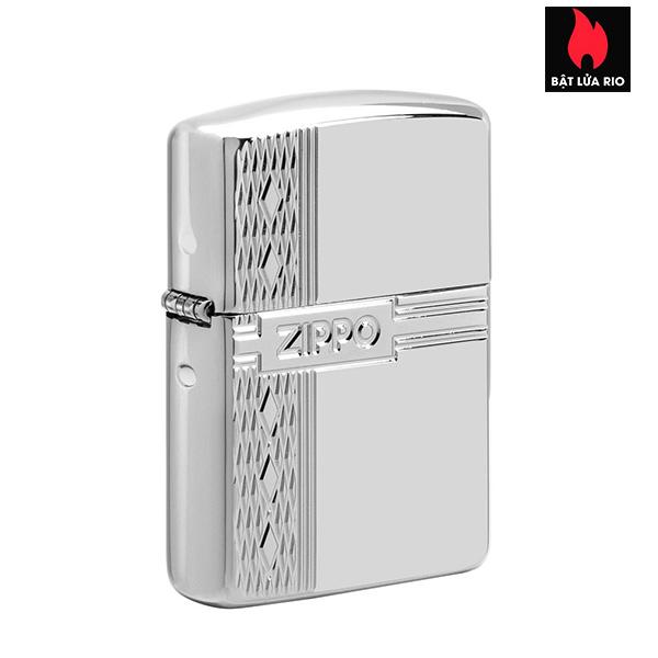 Zippo 49551 - Zippo Armor® Sterling Silver Zippo Diamond Design