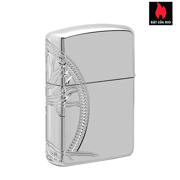 Zippo 49552 - Zippo Armor® High Polish Sterling Silver Tree of Life 2