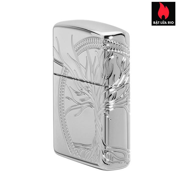 Zippo 49552 - Zippo Armor® High Polish Sterling Silver Tree of Life 5