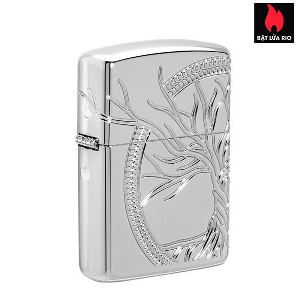 Zippo 49552 - Zippo Armor® High Polish Sterling Silver Tree of Life